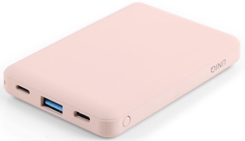 UNIQ Fuele Mini 8 000 mAh USB-C PD kapesní powerbanka UNIQ-FUELEMINI-PINK, růžová