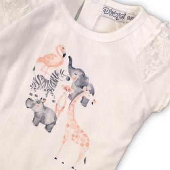 Dirkje dekliška majica z motivom živali