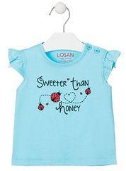 Losan dívčí tričko 68 světle modrá
