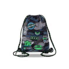 CoolPack Vak na záda Sprint šedý/zelený