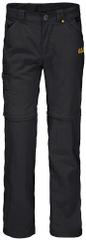 Jack Wolfskin Spodnie dziecięce SAFARI ZIP OFF PANTS K 116 czarne
