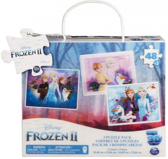 Spin Master Frozen 2 sestavljanka 3D, 3x 48 delov