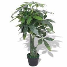 shumee Umělá rostlina pachira s květináčem 85 cm zelená