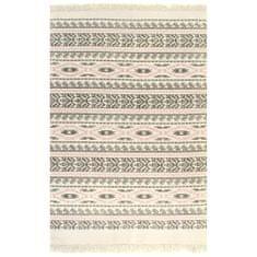 shumee Koberec Kilim se vzorem bavlněný 160 x 230 cm šedorůžový