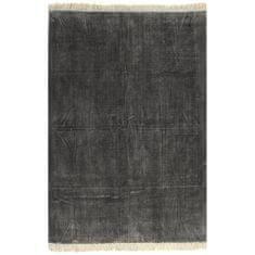 shumee Koberec Kilim bavlněný 120 x 180 cm antracitový