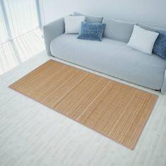 shumee Obdélníková hnědá bambusová rohož / koberec 120 x 180 cm