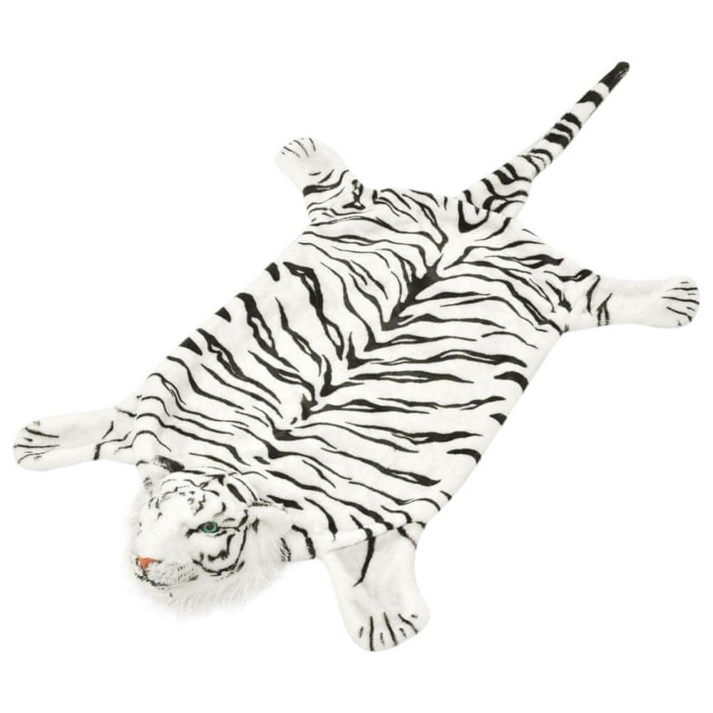 Plyšový koberec tygr 144 cm bílý