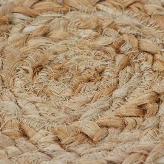 shumee kör alakú, fonott juta szőnyeg 90 cm