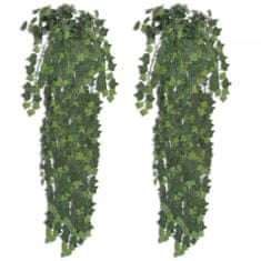 shumee 2 x Zeleni Umetni Bršljan 90 cm