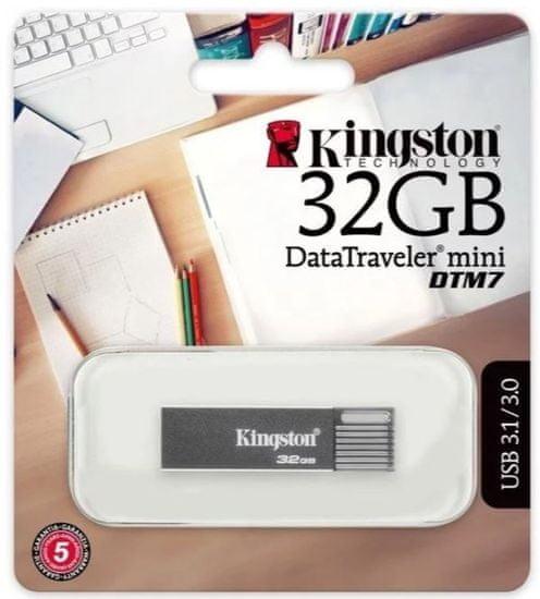Kingston dysk flash DataTraveler Mini 7, 32GB (DTM7/32GB)