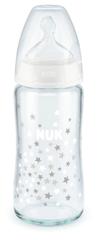 Nuk FC+ cumisüveg üvegből 240 ml S, S, V1-M Fehér