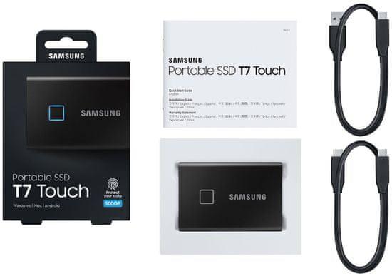 Samsung T7 Touch SSD 500GB, černá (MU-PC500K/WW)