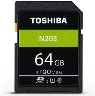TOSHIBA SDXC 64GB N203 UHS-I, U1, 100MB/s, Class 10 (THN-N203N0640E4)
