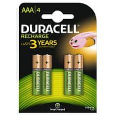 Duracell polnilna baterija AAA, 750 mAh, 4 kosi