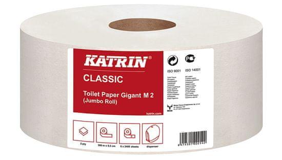 Katrin Papír toaletní JUMBO Classic 180 mm, 2-vrstvý, bílý / 12 ks