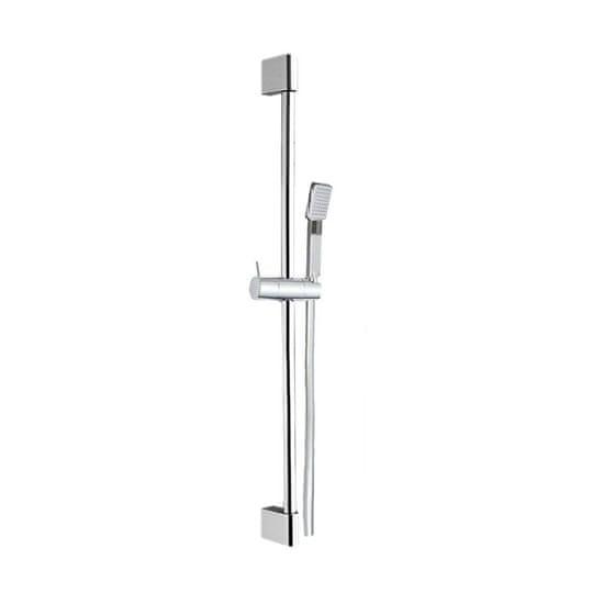 Mereo Sprchová súprava, jednopolohová sprcha, šedostrieborná hadica, systém nastavit. držiak, plast/chróm (CB900D)