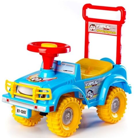 Teddies Odrážedlo auto Jeep Yupee modré