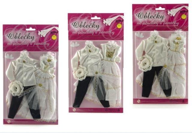Teddies Šaty/Oblečky na panenky Ken a Barbie