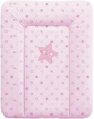Ceba Baby Prebaľovacia podložka na komodu mäkká 50 x 70 cm - Hviezdy ružová