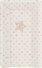 Ceba Baby Pelenkázó alátét, puha, 80 cm három oldalú - Csillagok, bézs
