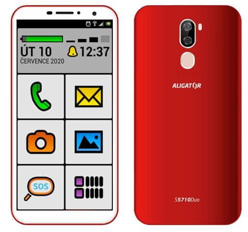 Aligator S5710 Senior, 2GB/16GB, červený