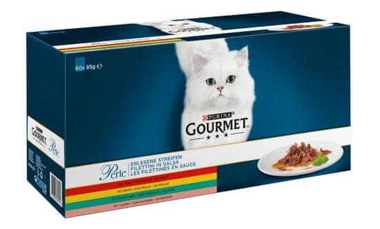Gourmet karma mokra dla kota Perle multipack Mini fileciki w sosie 60 x 85 g