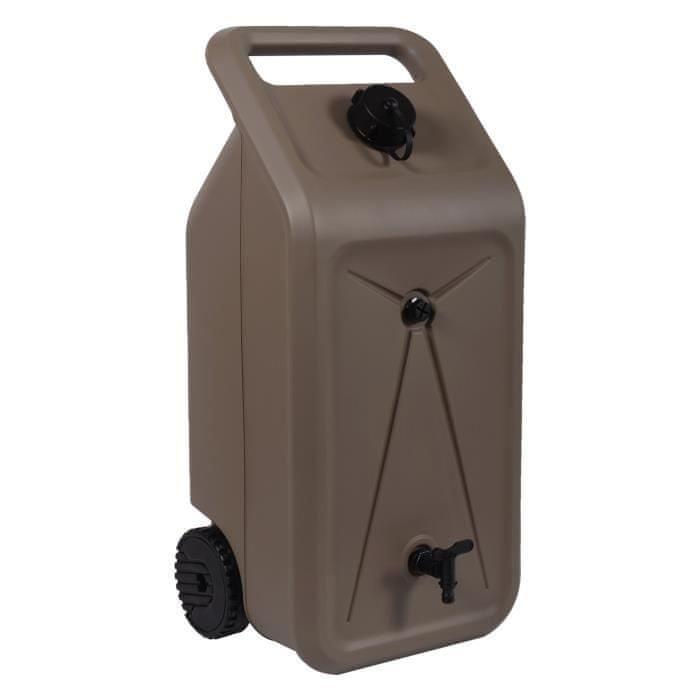Eda Plastique nádrž na děšťovou vodu na kolečkách - hnědá