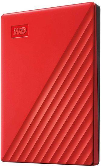 Western Digital dysk zewnętrzny My Passport Portable 2TB, czerwony (WDBYVG0020BRD-WESN)
