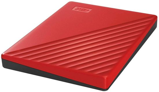 Western Digital My Passport 2 TB prenosni disk, rdeč