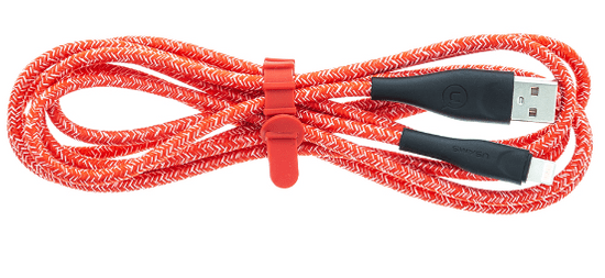 USAMS SJ394 U41 Braided Datový Kabel 2m Lightning Red (EU Blister)(SJ394USB02)