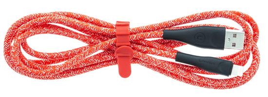 USAMS SJ397 U41 Braided Datový Kabel 3m Lightning Red (EU Blister) (SJ397USB02)