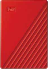 Western Digital My Passport 4 TB prenosni disk, rdeč