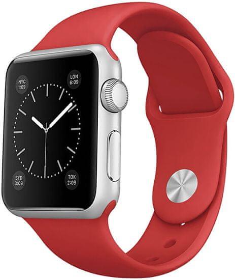 4wrist Pasek silikonowy do Apple Watch - Czerwony38/40 mm - S/M
