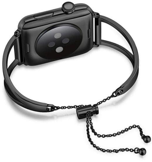4wrist Regulowana stalowa bransoletka dla Apple Watch - Czarny 42/44 mm