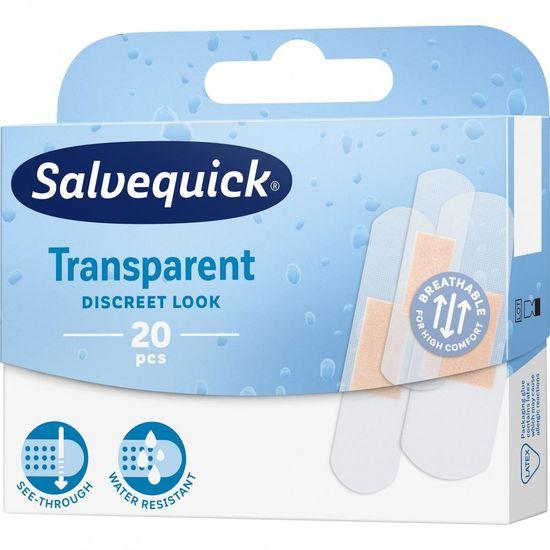 Salvequick Transparent Náplasť priehľadná, 20 ks