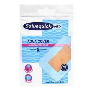 Salvequick Med Aqua Cover Náplasť vodeodolná, 5 ks