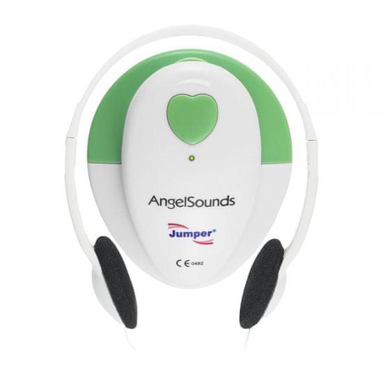 AngelSounds JPD 100S Prenatálny odposluch, biela/zelená