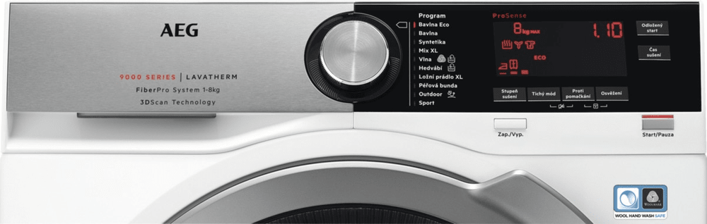 AEG sušička prádla T9DBC68SC + 10 let záruka na motor