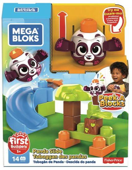 MEGA BLOKS Peek a Blocks Nagy csúszda - Erdei panda