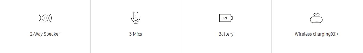 Samsung Galaxy Buds plus, čierna (SM-R175NZKAEUB) bezdrôtové nabíjanie dlhá výdrž batérie 2pásmový reproduktor 3 mikrofóny