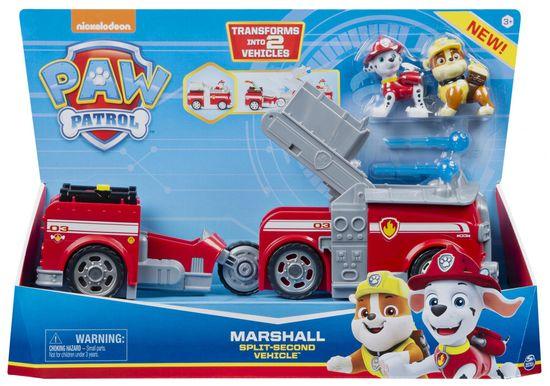 Spin Master Paw Patrol dva vozila u jednom Marshall