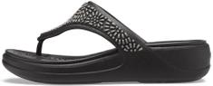 Crocs dámské žabky Monterey Diamante Wedge Flip W (206343-001) 36/37 černá