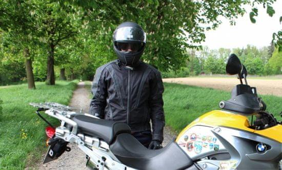 Cappa Racing Bunda moto pánská SEPANG kůže/textil černá