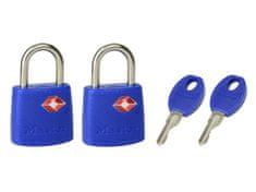 Master Lock Visací zámek hliník 30 mm TSA - sada 2 kusy