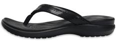 Crocs dámské žabky Capri V Sequin Flip W (204311-001) 36/37 černá