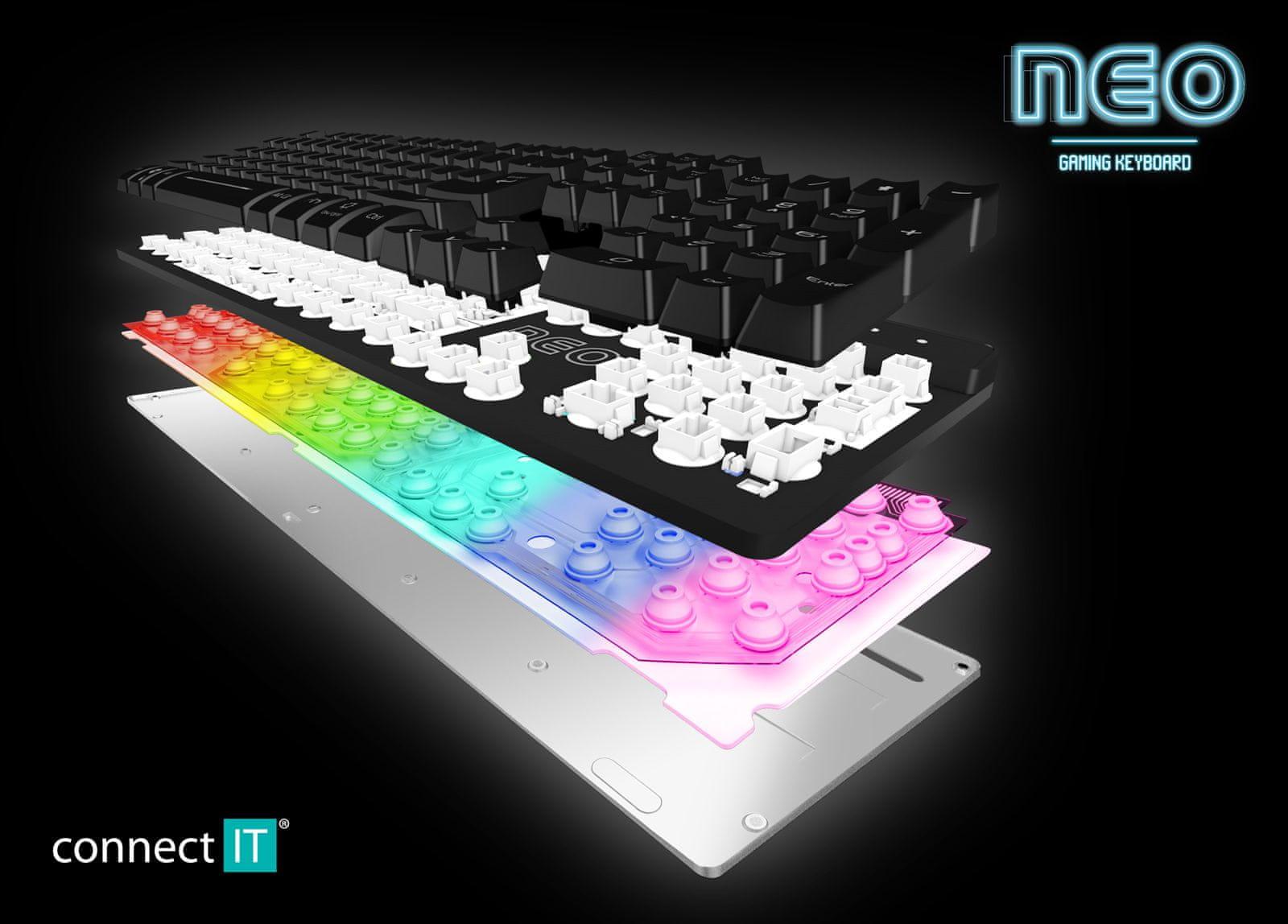 12 multimediálnych kláves WASD Plug Play Anti-ghost Win-Lock Connect IT Nero CZ SK