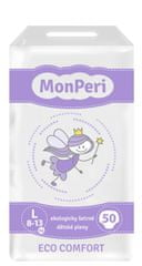MonPeri jednorázové pleny ECO comfort L (8-13 kg) 50ks