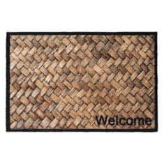 FLOMA Vnitřní čistící pratelná vstupní rohož Prestige Welcome wicker - délka 50 cm a šířka 75 cm