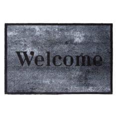 FLOMA Vnitřní čistící pratelná vstupní rohož Prestige Welcome concrete - délka 50 cm a šířka 75 cm