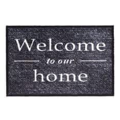 FLOMA Vnitřní čistící pratelná vstupní rohož Prestige Welcome to our home - délka 50 cm a šířka 75 cm